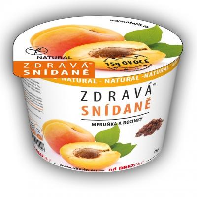Zdravá snídaně meruňka a rozinky